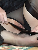 sheer bliss in nylons, panties and gloves - Vintage Milfs